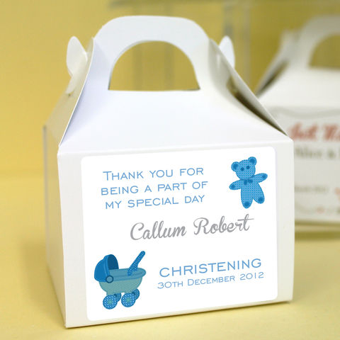 Personalised,Christening,Cupcake,Boxes,-,Teddy,,Boy,christening favours, christening cupcakes, personalised cupcake boxes, cupcake, single cupcake boxes, hearts, baby, christening gifts