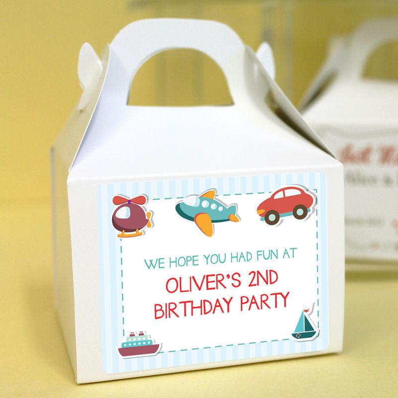 personalised birthday cupcake boxes transport uber kids design. Black Bedroom Furniture Sets. Home Design Ideas