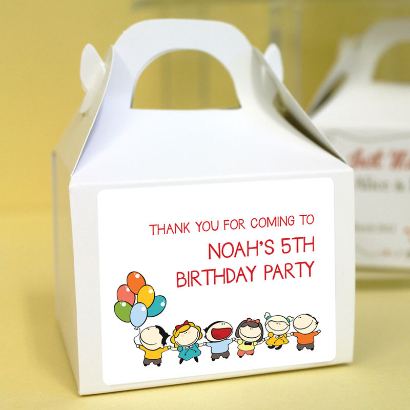 Personalised Birthday Cupcake Boxes