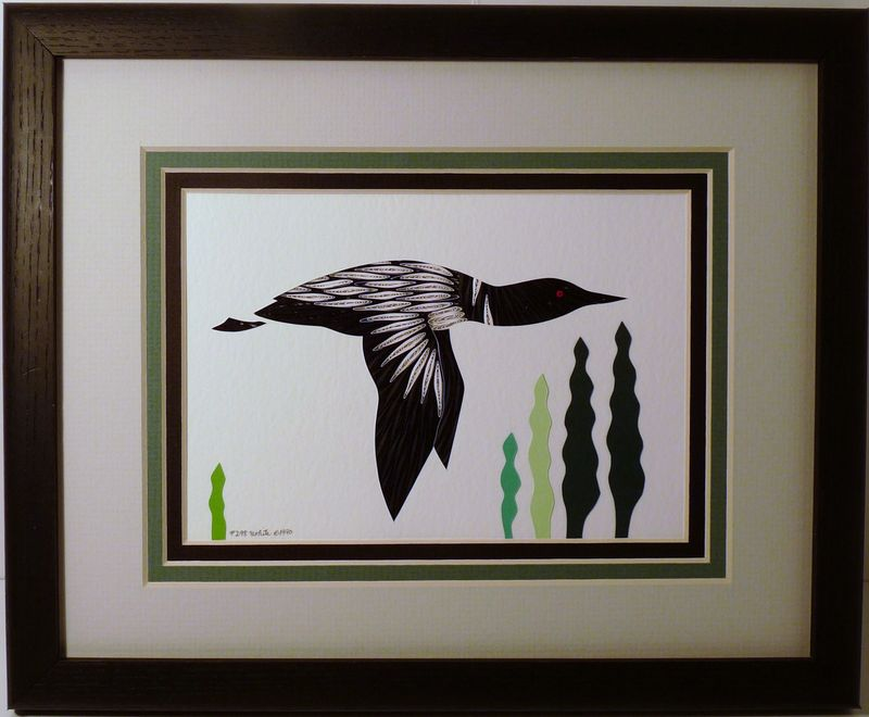 Quilled Loon in Flight Wall Art Handcrafted - product image