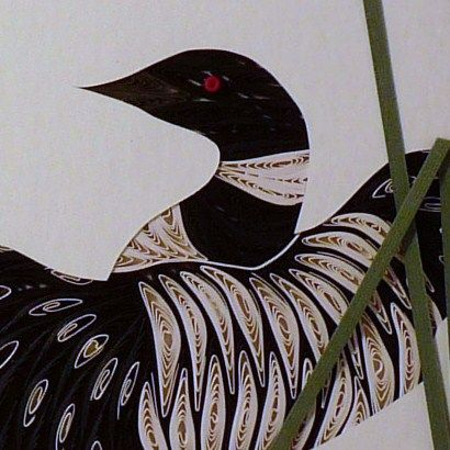 Quilled,Loon,in,Display,Wall,Art,Handcrafted,loon,quilling,wall art,handcrafted,paper art