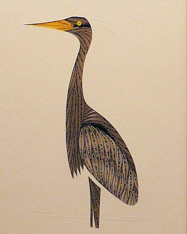 Quilled Heron on Watch wall art handmade - product image