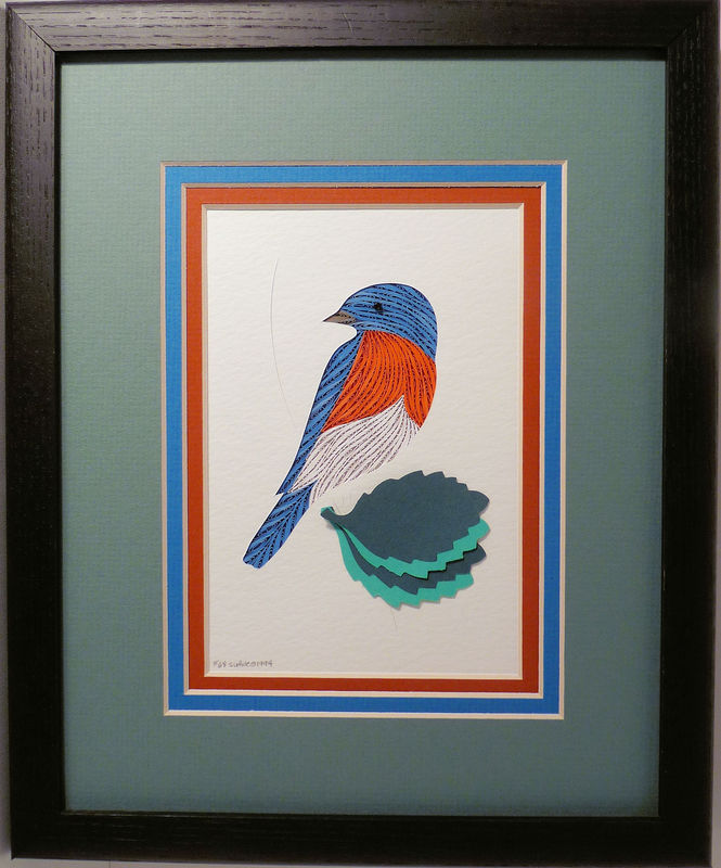 Quilled Bluebird wall art handmade - product image