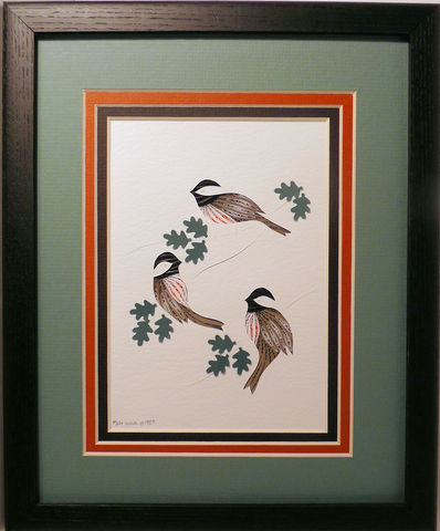 Quilled,Chickadees,Three,wall,art,handmade,Quilling,rolled paper,chickadee,bird,wall art,Quilling by Sandra White