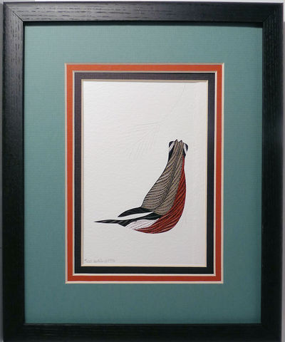 Quilled,Red,Breasted,Nuthatch,wall,art,handmade,Quilling,rolled paper,nuthatch,bird,wall art,Quilling by Sandra White
