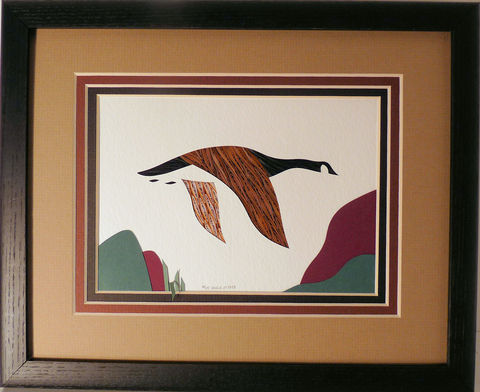 Quilled,Canada,Goose,in,Flight,wall,art,handmade,Quilling,rolled paper,canada goose,bird,wall art,Quilling by Sandra White