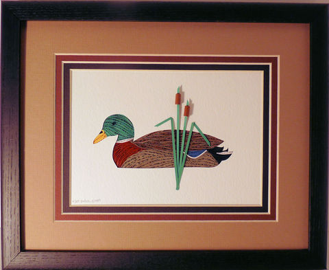Quilled,Mallard,wall,art,handmade,Quilling,rolled paper,mallard,duck,bird,wall art,Quilling by Sandra White