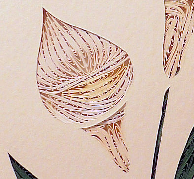 Quilled Calla Lilies wall art handmade - product image