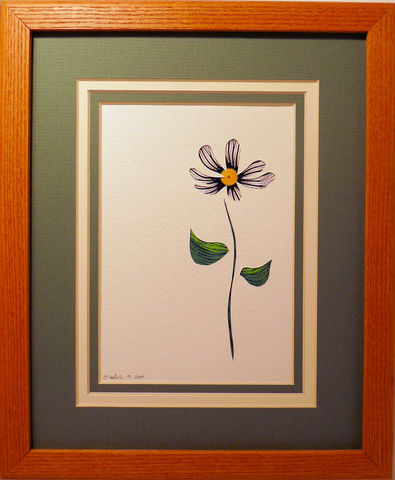 Quilled,Daisy,wall,art,handmade,Quilling,rolled paper,daisy,wildflowers,wall art,Quilling by Sandra White