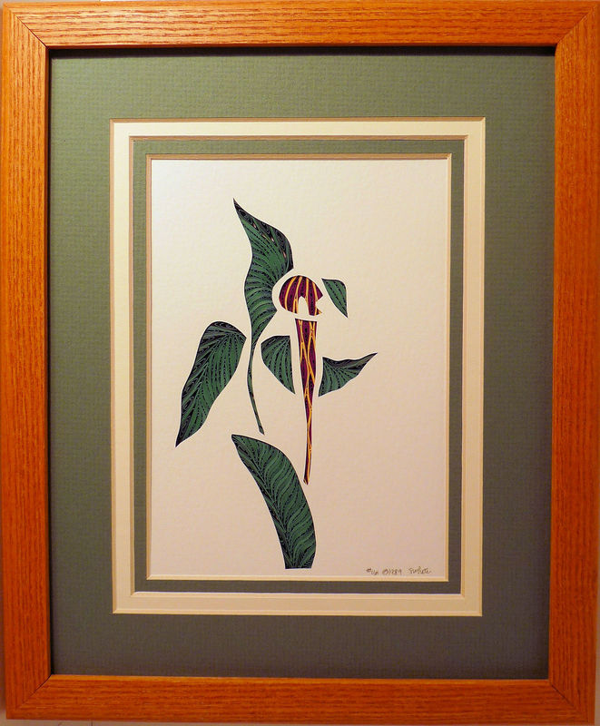 Quilled Jack in the Pulpit wall art handmade - product image