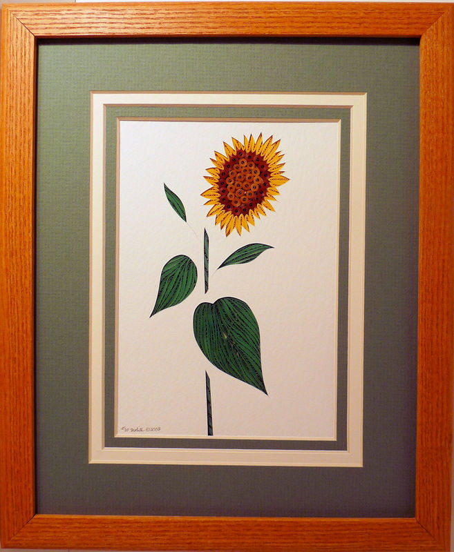 Quilled Sunflower wall art handmade - product image