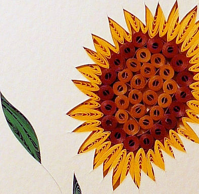 Quilled,Sunflower,wall,art,handmade,Quilling,rolled paper,sunflower,wildflowers,wall art,Quilling by Sandra White