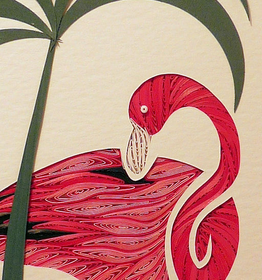 Quilled Flamingo wall art handmade - product image