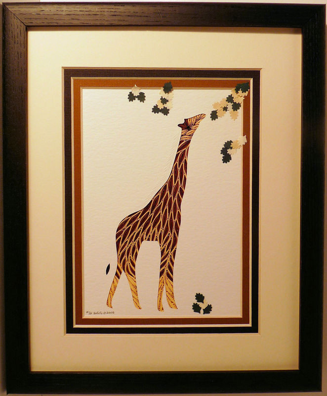 Quilled Giraffe Wall Art Handmade   Product Image