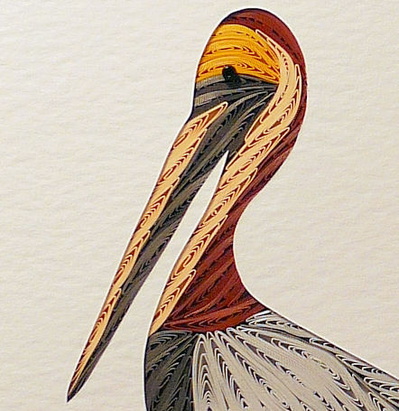 Quilled Pelican wall art handmade - product image