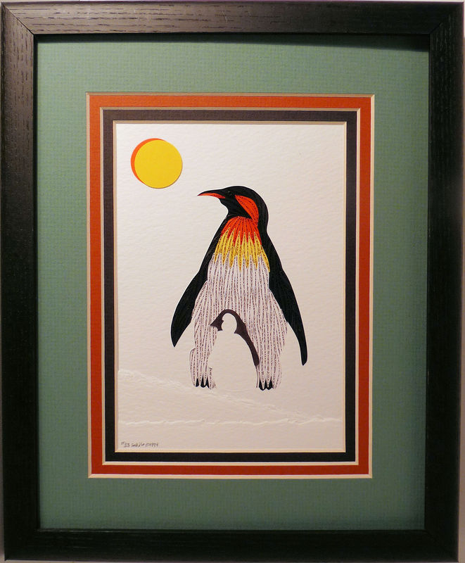 Quilled Penguin wall art handmade - product image