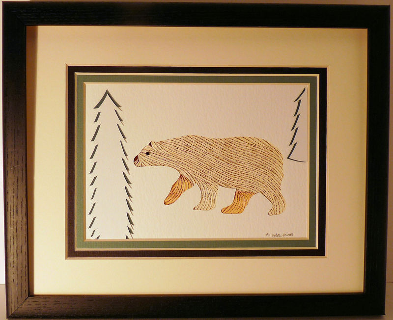 Quilled Polar Bear wall art handmade - product image