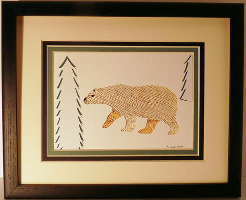Quilled,Polar,Bear,wall,art,handmade,Quilling,rolled paper,polar bear,wall art,Quilling by Sandra White