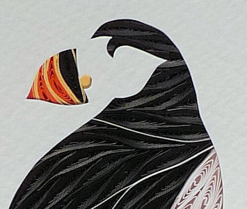 Quilled,Puffin,wall,art,handmade,Quilling,rolled paper,puffin,wall art,Quilling by Sandra White