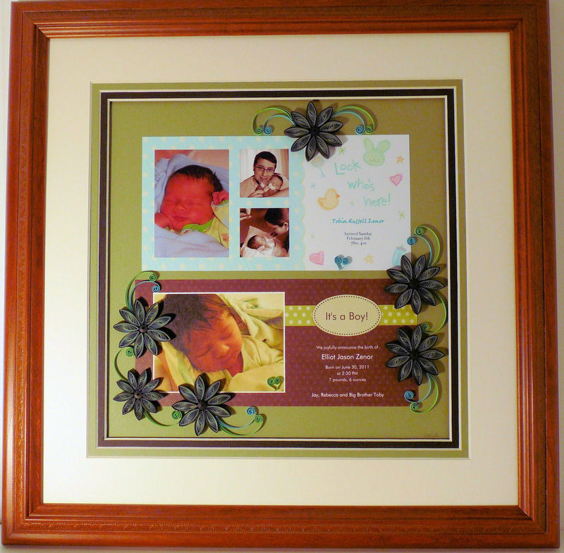 Quilled Birth Announcement Keepsake Custom - product image