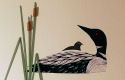 Quilled Loon and Baby Wall Art Handcrafted - product image
