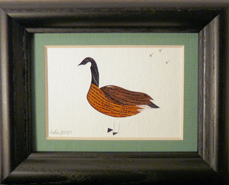 Quilled Little One Canada Goose Bookcase Art - product image