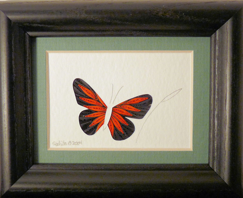 Quilled Little One Monarch Butterfly Bookcase Art - product image