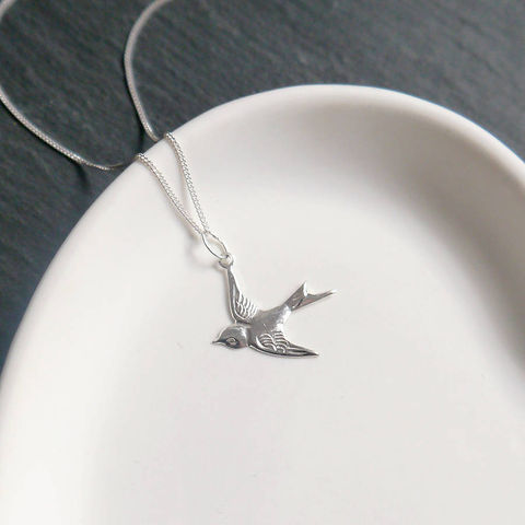 Silver,Swallow,Necklace,Maria Allen Boutique, Jewellery, Necklace, Necklaces, Silver Swallow, Charm, Gifts for her, gifts for women
