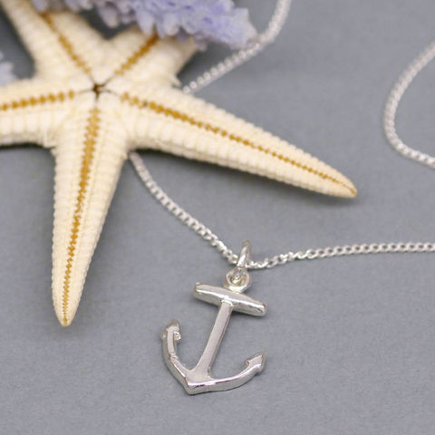 Silver,Anchor,Charm,Necklace,Maria Allen Boutique, jewellery, accessories, necklace, anchor, charm, silver jewellery, handmade jewellery, personalised gifts, gifts for her, gifts for women