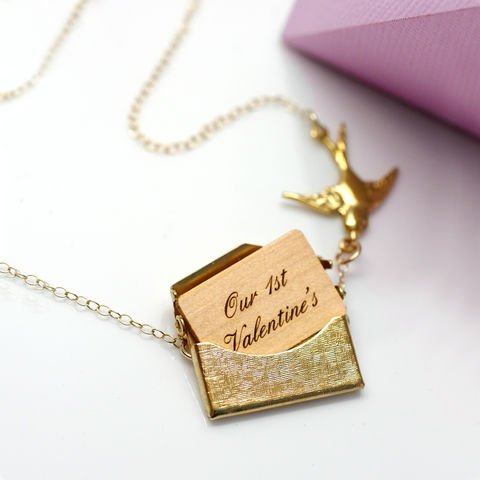 Personalised,Mini,Love,Letter,Necklace,envelope necklace, personalised Jewellery, Love Letter Necklace, gold envelope necklace , opening locket, personalised gifts for her, gifts for women