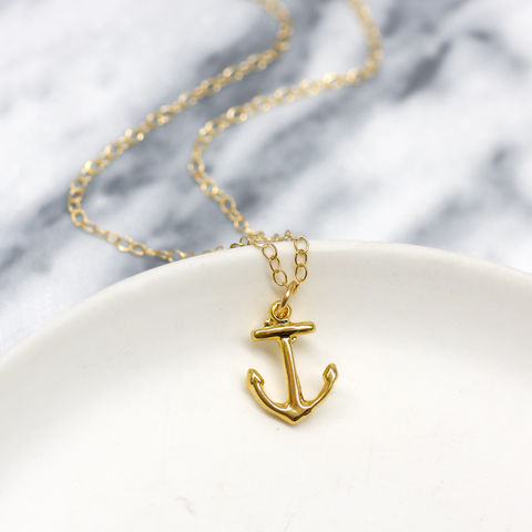 Gold,Anchor,Charm,Necklace,Maria Allen Boutique, Jewellery, Gold Anchor Necklace, Anchor Charm, Gold necklace, gifts for her, gifts for women