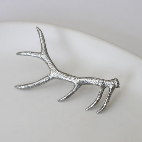 Pewter,Antler,Brooch,antler, deer, animal, vintage, pewter, silver, brooch, gift, pin, womens