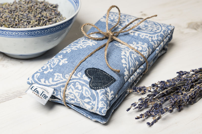 Persian Paisley Print Wheat And Lavender Heat Pad - product images  of