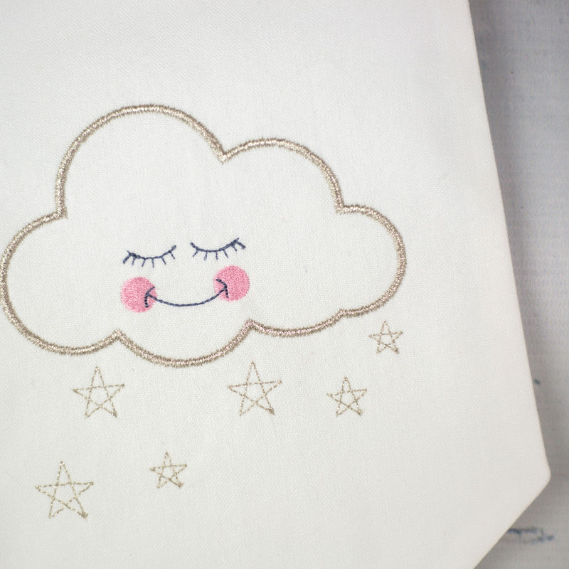 Sleepy Cloud Fabric Wall Hanging - product images  of