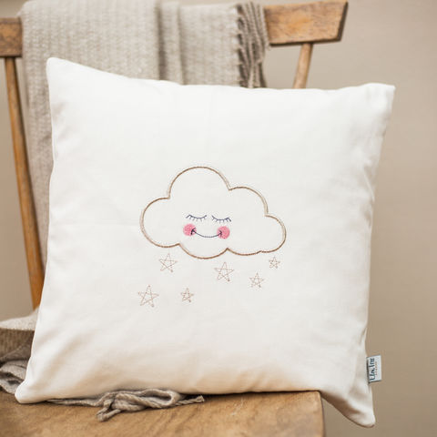 Scandi,Cloud,Nursery,Cushion,Scandinavian, cushion,new baby, nursery, cloud, gift, pillow, embroidery