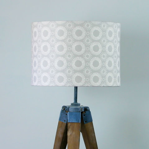 Contemporary,floral,print,lampshade,Grey/White, lighting, Scandinavian, grey, flower, scandi, embroidery, floral