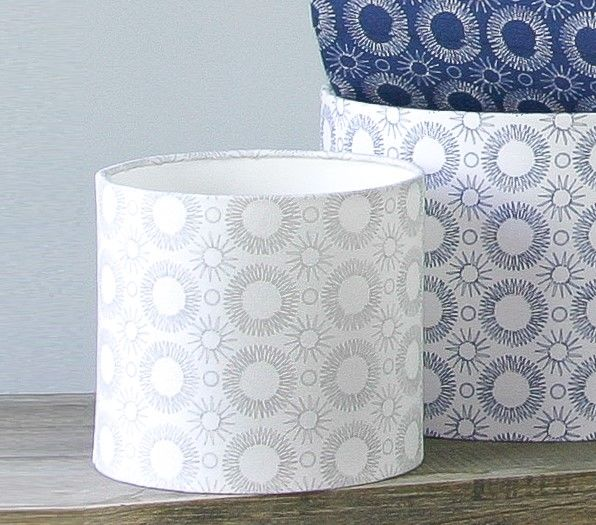 contemporary floral print lampshade White/Grey - product images  of