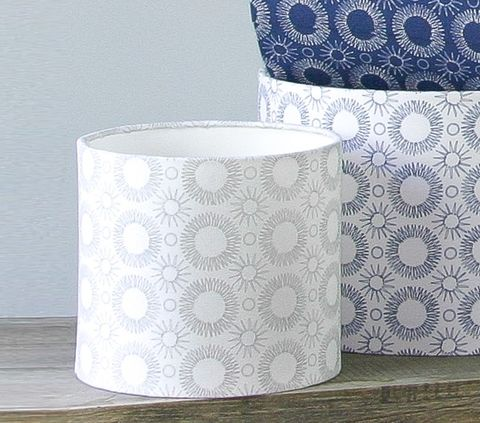 contemporary,floral,print,lampshade,White/Grey, lighting, Scandinavian, grey, flower, scandi, embroidery