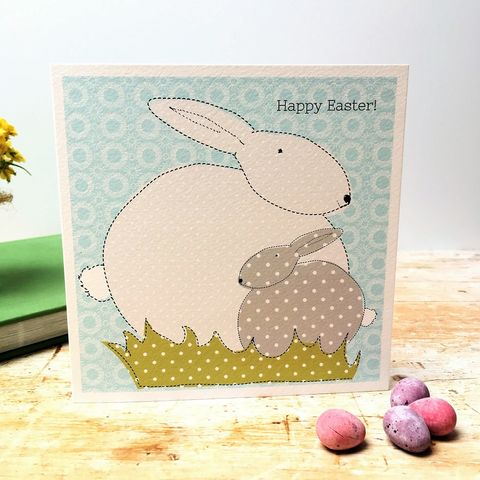 Easter,Bunny,Card, Easter card, pack of cards, bunny, applique, embroidery