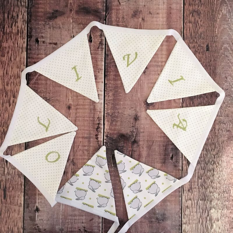 Personalised Bunny print bunting - product images  of