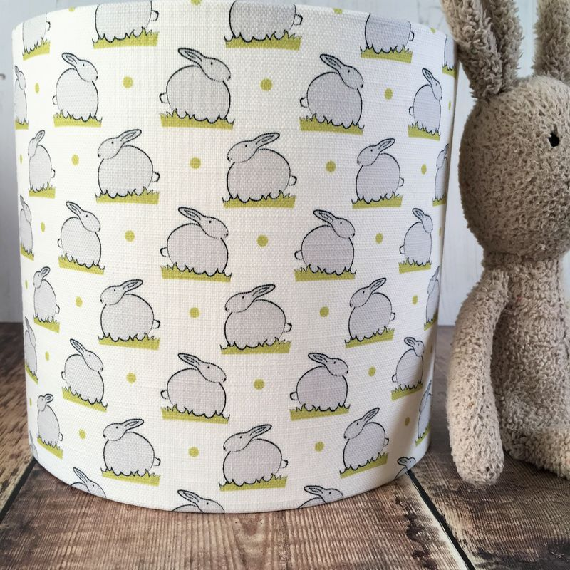 Bunny linen lampshade - product images  of