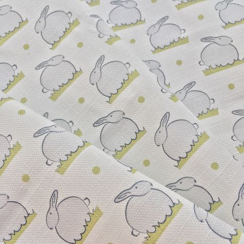 Bunny,Linen,White,Fabric, bunny, linen, cotton,