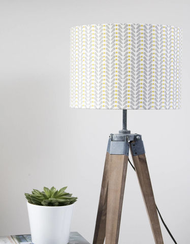 Mustard,and,grey,scandi,design,linen,lampshade,Housewares,Lighting,scandi_decor,mid_century_design,mid_century_modern,scandi_fabric,lighting,lamp_shade,scandi_style,folk_lampshade,danish_design,mustard,Fabric