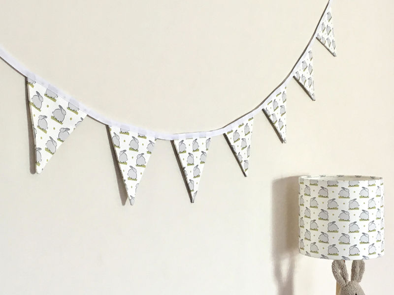 Nursery bunting in all over bunny print - product images  of