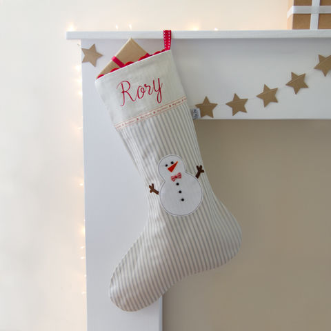 Blue,Personalised,Snowman,Christmas,Stocking,Housewares,Home_Decor,personalised,Embroidered,christmas,stocking,handmade,snowman,ticking_stripe,linen,blue,duck_egg,Christmas_stocking,embroidered_stocking,Christmas_decoration