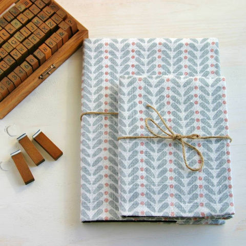Scandinavian,Inspired,Print,Linen,Covered,Notebook,Paper_Goods,note_book,notebook,linen,scandi,scandinavian,grey,pink,blue,sketch_book,blank_notebook,journal_notebook,pocket_notebook
