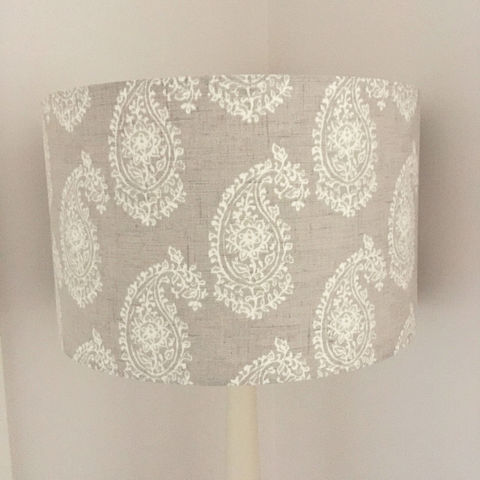 Natural,Linen,colour,persian,paisley,lampshade,Housewares,Lighting,lamp_shade,natural_linen,linen,cotton,country,home_decor,retro,classic_deisgn,dark_cream,simple_design,Fabric