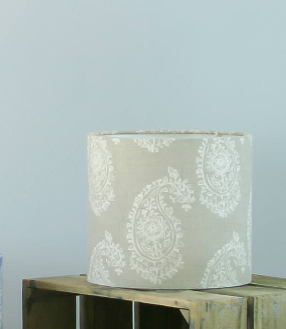 Natural Linen colour persian paisley lampshade - product images  of
