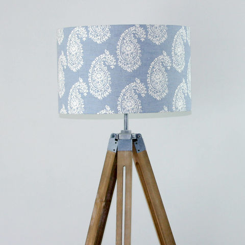 Blue,persian,paisley,lampshade,Housewares,Lighting,lamp_shade,denim,blue,paisley_pattern,home_decor,country_style,drum_lampshade,handmade,faded_blue,retro,Fabric