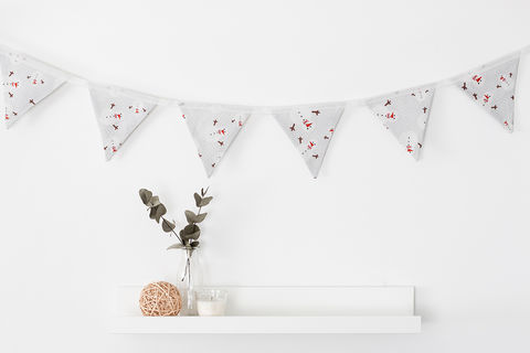 Christmas,Snowman,Linen,Bunting,bunting, christmas bunting, snowman